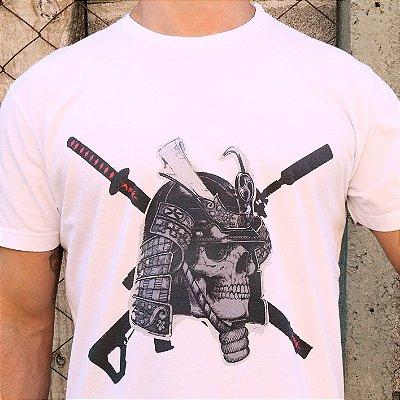 Camiseta Estonada Caveira Branca
