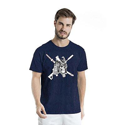 Camiseta Estonada Caveira Marinho Sky