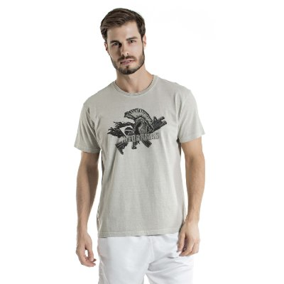 Camiseta Estonada Spartan Cinza