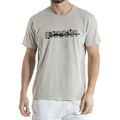 Camiseta Estonada Aeronave Cinza