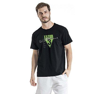 Camiseta Estonada Fator Preta