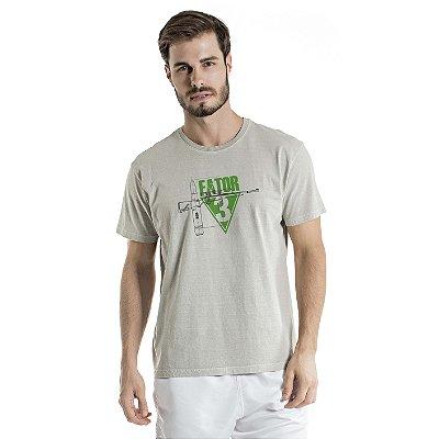 Camiseta Estonada Fator Cinza