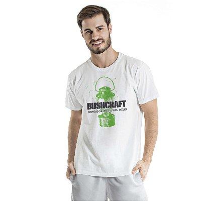 Camiseta Estonada Bushcraft Branca