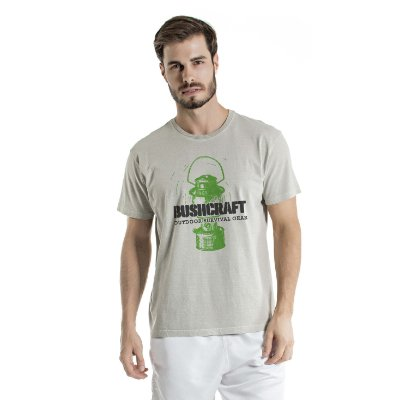 Camiseta Estonada Bushcraft Cinza