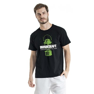 Camiseta Estonada Bushcraft Preta