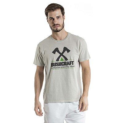 Camiseta Estonada Survival Gear Cinza