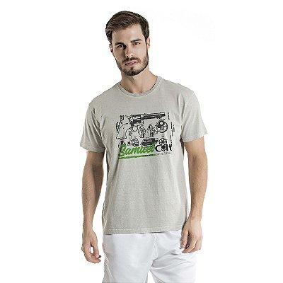 Camiseta Estonada Samuel Colt Pacificadora Cinza