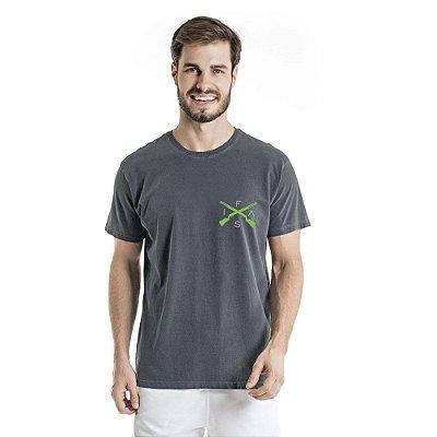 Camiseta Estonada Info Brazil Chumbo
