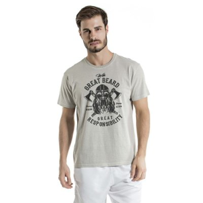 Camiseta Estonada Great Beard Cinza