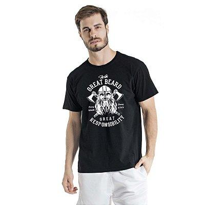 Camiseta Estonada Great Beard Preta