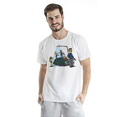 Camiseta Estonada Porte Abacaxi Branca