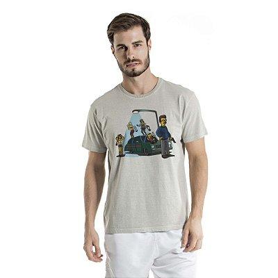 Camiseta Estonada Porte Abacaxi Cinza