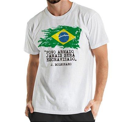Camisa Estonada Brasil Branca