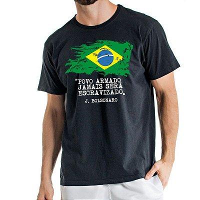 Camisa Estonada Brasil Preta