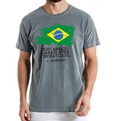 Camisa Estonada Brasil Chumbo