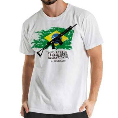 Camisa Estonada Brasil Armado Branca