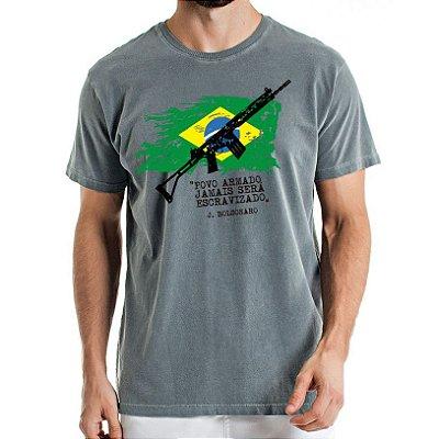 Camisa Estonada Brasil Armado Chumbo