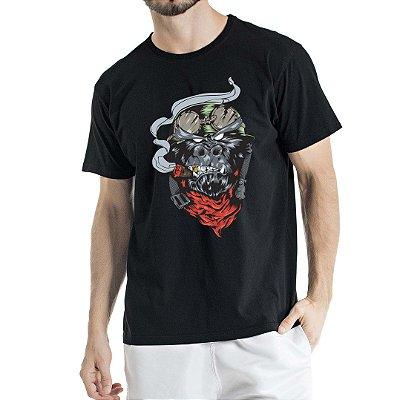 Camiseta Estonada Preta Gorila