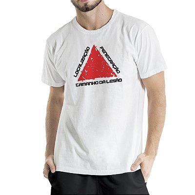 Camiseta Estonada Branca Localização