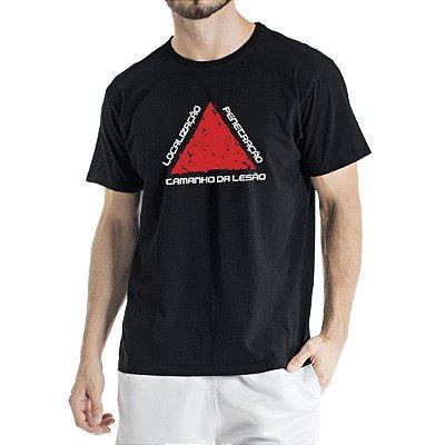 Camiseta Estonada Preta Localização