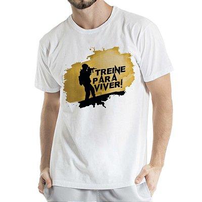 Camisa Estonada Treine para Viver Branca