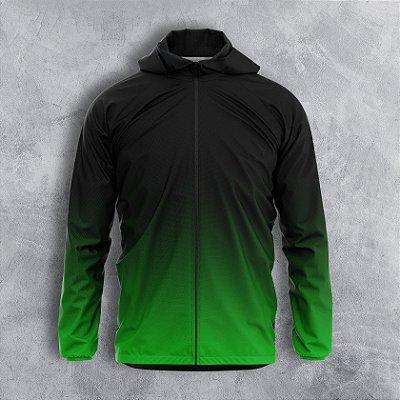 Jaqueta Corta Vento Masculino Verde Degrade
