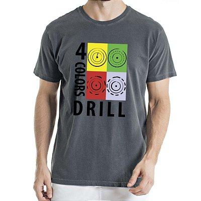 Camisa Estonada 4 colors Drill Humberto Wendling Chumbo