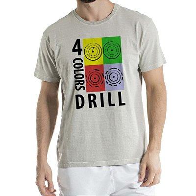 Camisa Estonada 4 colors Drill Humberto Wendling Cinza