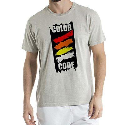 Camisa Estonada COLOR CODE Humberto Wendling Cinza