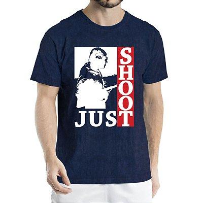 Camisa Estonada Just Shoot Humberto Wendling Marinho Sky