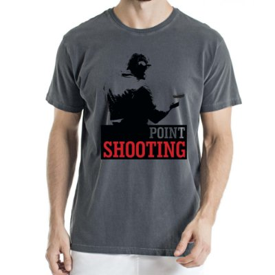 Camisa Estonada Point Shooting Humberto Wendling Chumbo