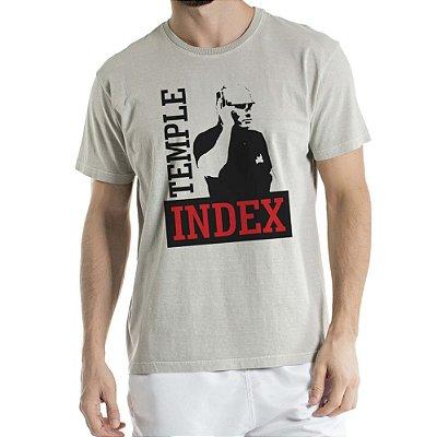 Camisa Estonada Temple Index Humberto Wendling Cinza