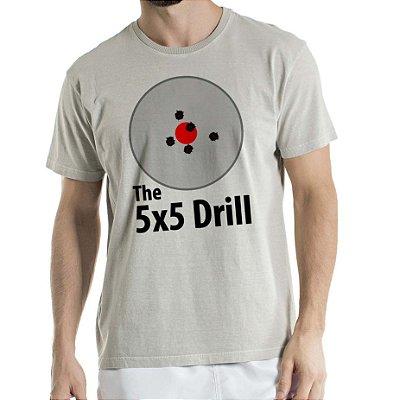 Camisa Estonada 5x5 Drill Humberto Wendling Cinza