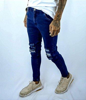 Calça jeans 3 rasgos