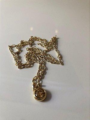 Cordão gold pedra