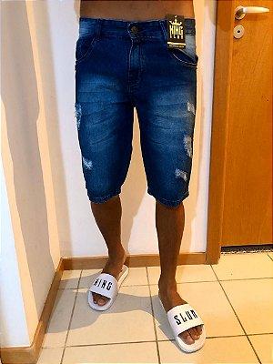 Bermuda jeans rasgo lateral