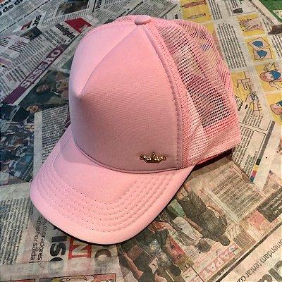 Boné telado rosa