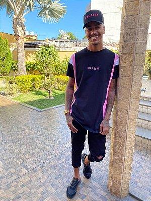 Blusa recort manga rosa