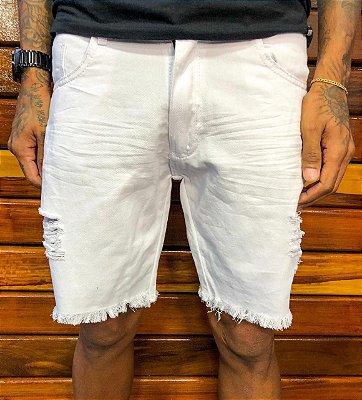 Bermuda curta jeans Branca