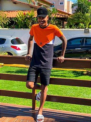 Blusa recort laranja