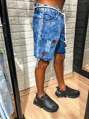 Bermuda curta jeans PET