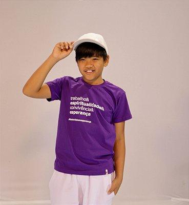 Camiseta Infantil Trabalho Espiritualidade Convivência