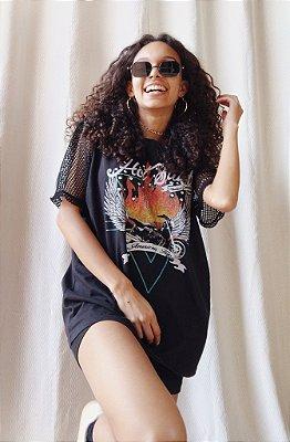 T shirt com Tela - Hot Stuff