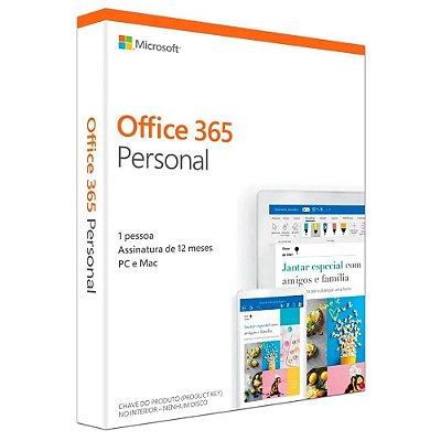 Microsoft Office 365 Personal Pc / Mac 1 Ano - Original