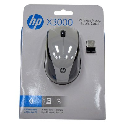 MOUSE HP X3300 Cinza- WIRELLES