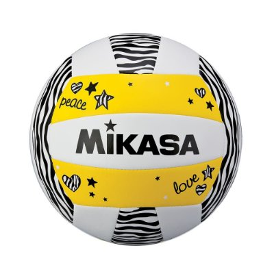 Bola de Vôlei de Praia Mikasa VXS ZB - Amarelo - Padrão FIVB