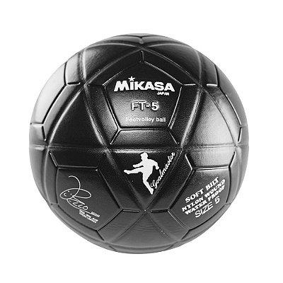 Bola Oficial de Futevôlei Mikasa FT-5 - Padrão FIFA Edição Bello Preta