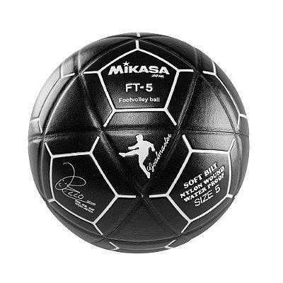 Bola Oficial de Futevôlei Mikasa FT-5 - Padrão FIFA Edição Bello Preta e Branca
