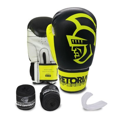KIT BOXE/MUAY THAI PRETORIAN PERFORMANCE AMARELA
