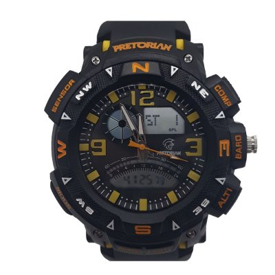RELÓGIO PRETORIAN FORCE  YELLOW /BLACK/ ORANGE ( WPRT-06-2)